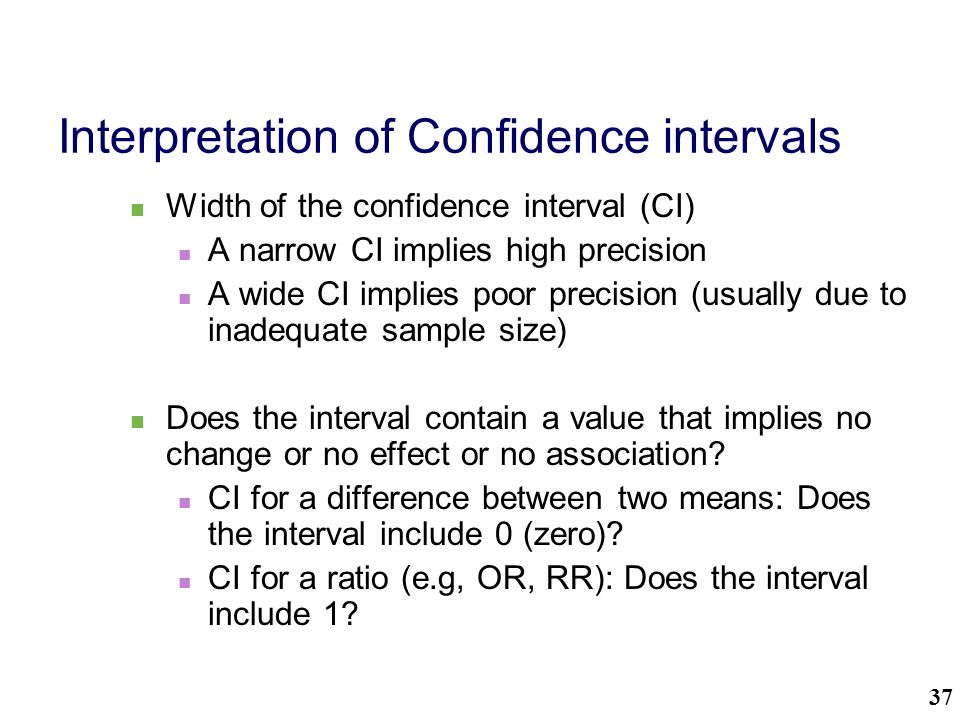 Statistical significance using Confidence Intervals - ppt download