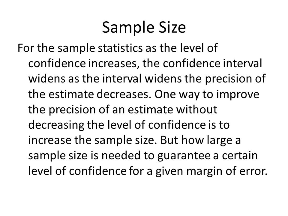 Section 6.1 Confidence Intervals for the Mean(Large Samples) - ppt ...