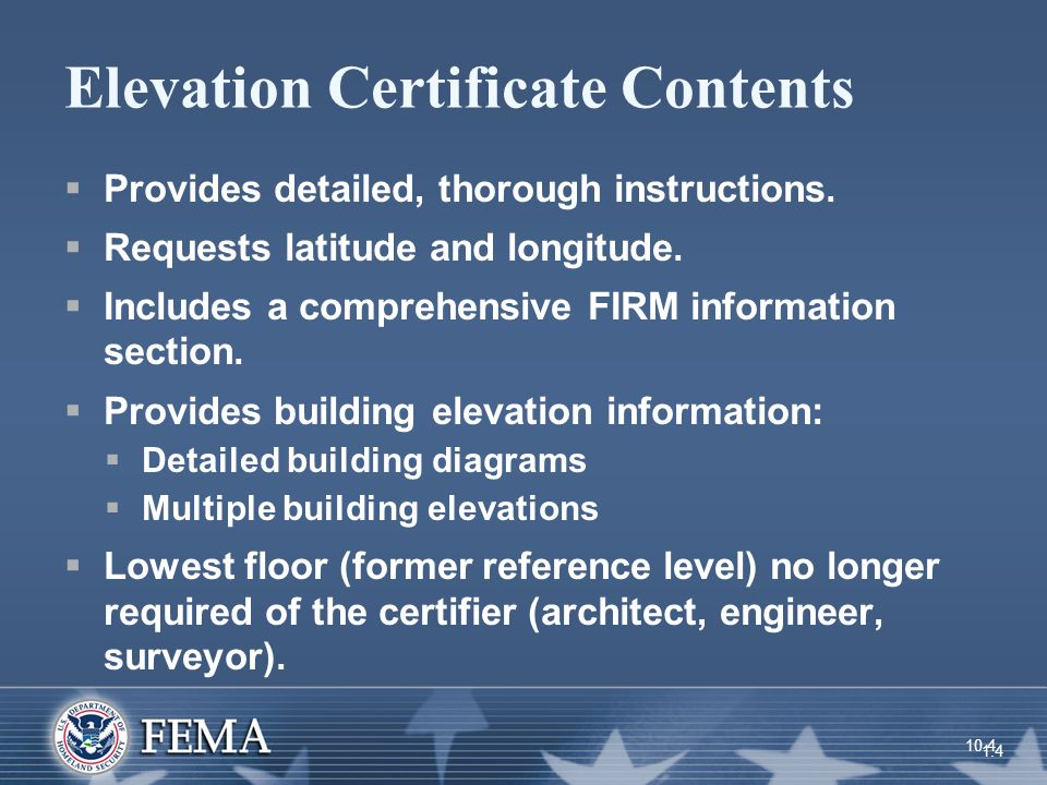 Lowest Floor Elevation On Elevation Certificate : Objectives at the end of this unit you should be able to