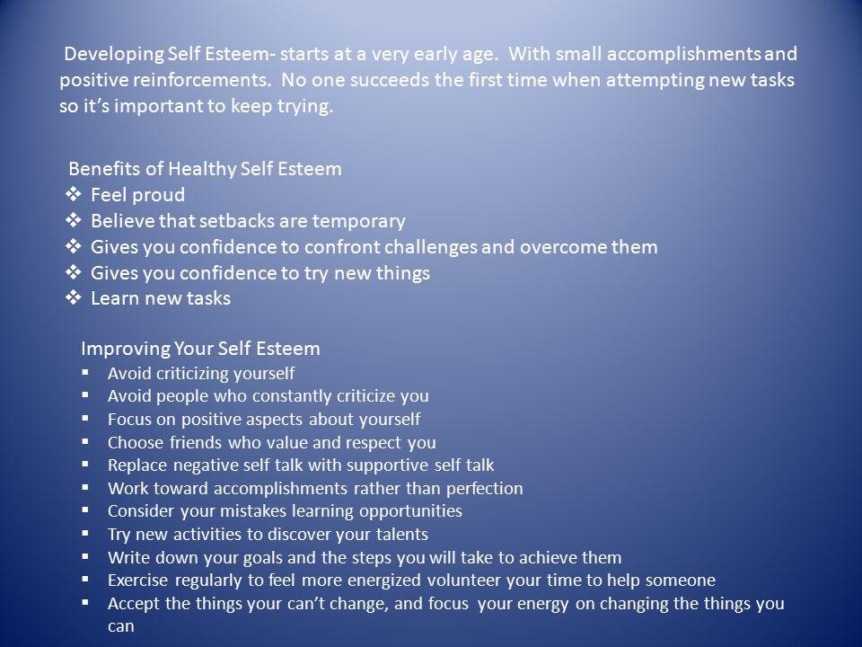 Benefits of Healthy Self Esteem Feel proud