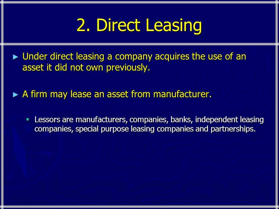 Leasing  Ppt Download