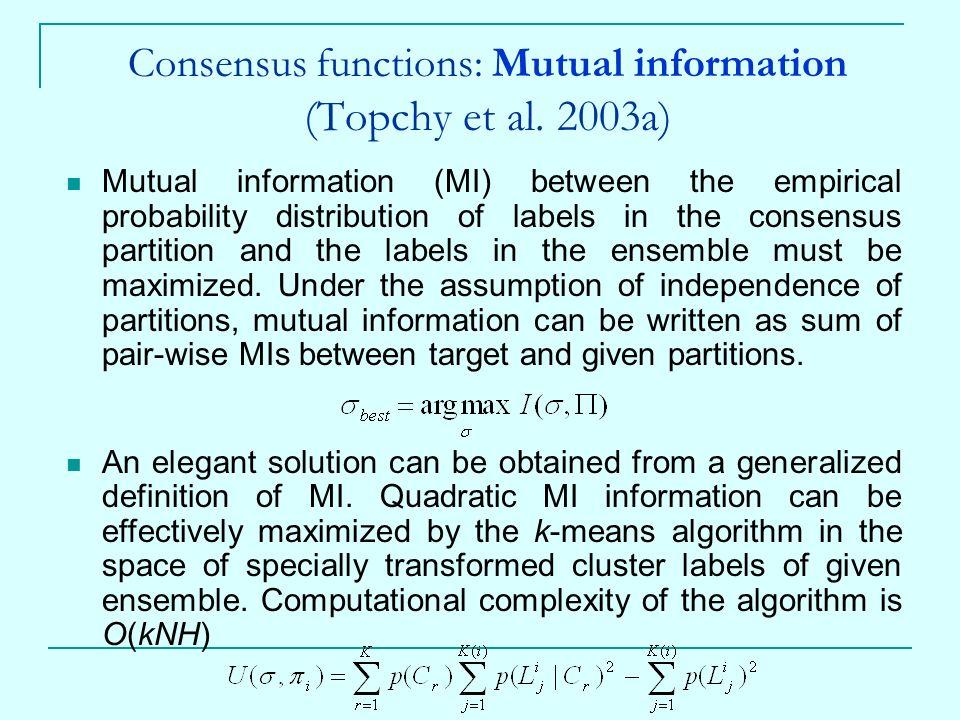 25 Consensus Functions: Mutual ...  Mutual Consensus
