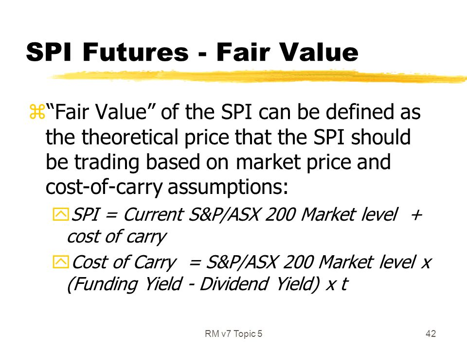 futures fair value definition