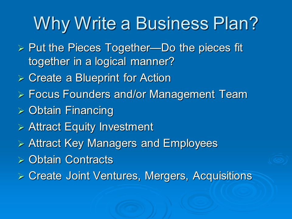 Feasibility planning chapter ppt video online download why write a business plan malvernweather Choice Image