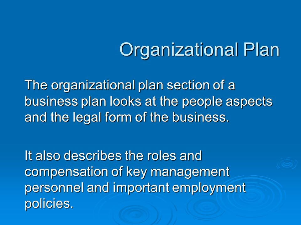 management and personnel feasibility