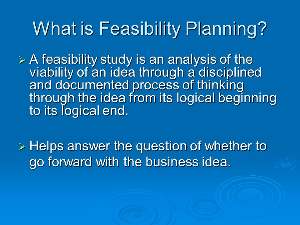 Feasibility Planning Chapter # Ppt Video Online Download