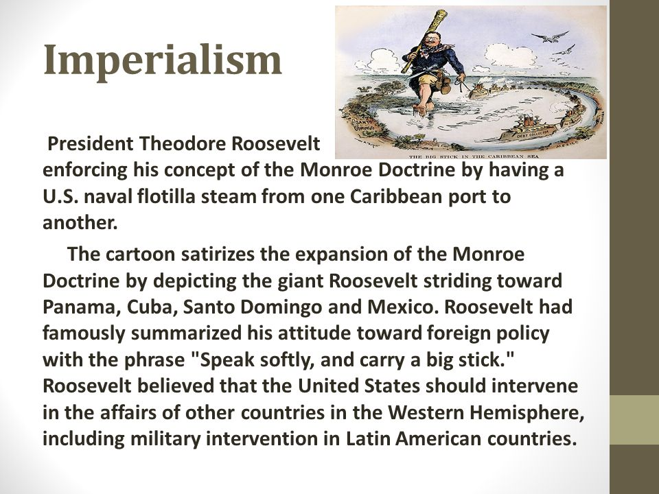 a description of monroes gift to mankind viewed as monroe doctrine