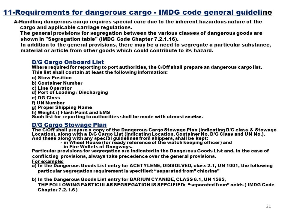 cargo handling and stowage 1 carriage of non-dangerous goods pdf