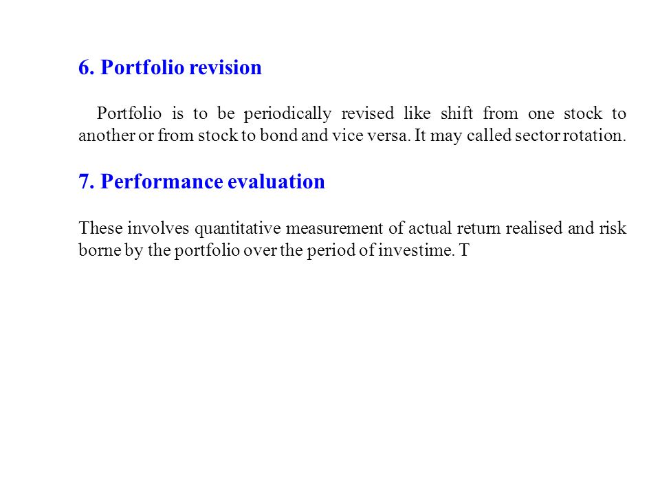 evaluation of portfolios linking risk and return Estimating risk and return assessment add remove explain how differences in allocations between the risk-free security and the market portfolio can determine the level of market risk.