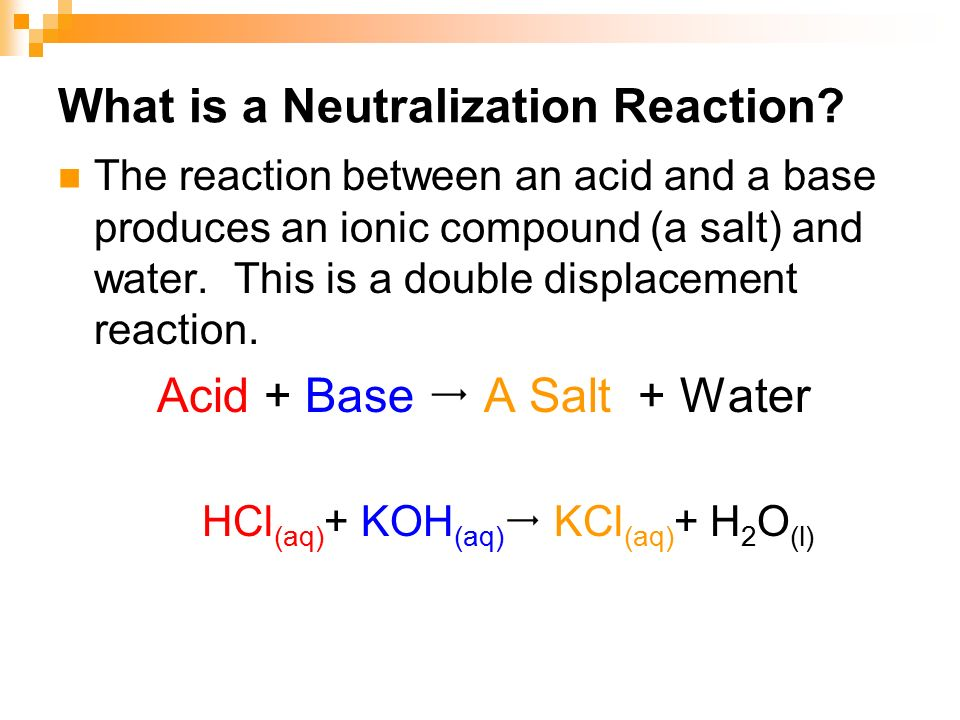 acid and complete neutralization ml