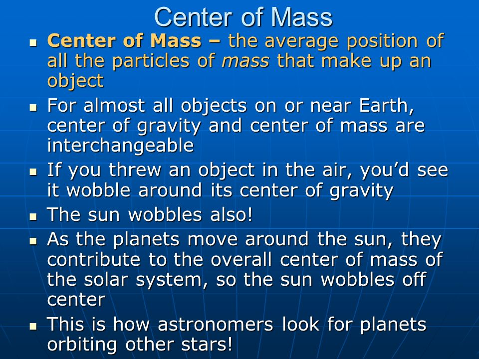 center of mass and center of gravity pdf