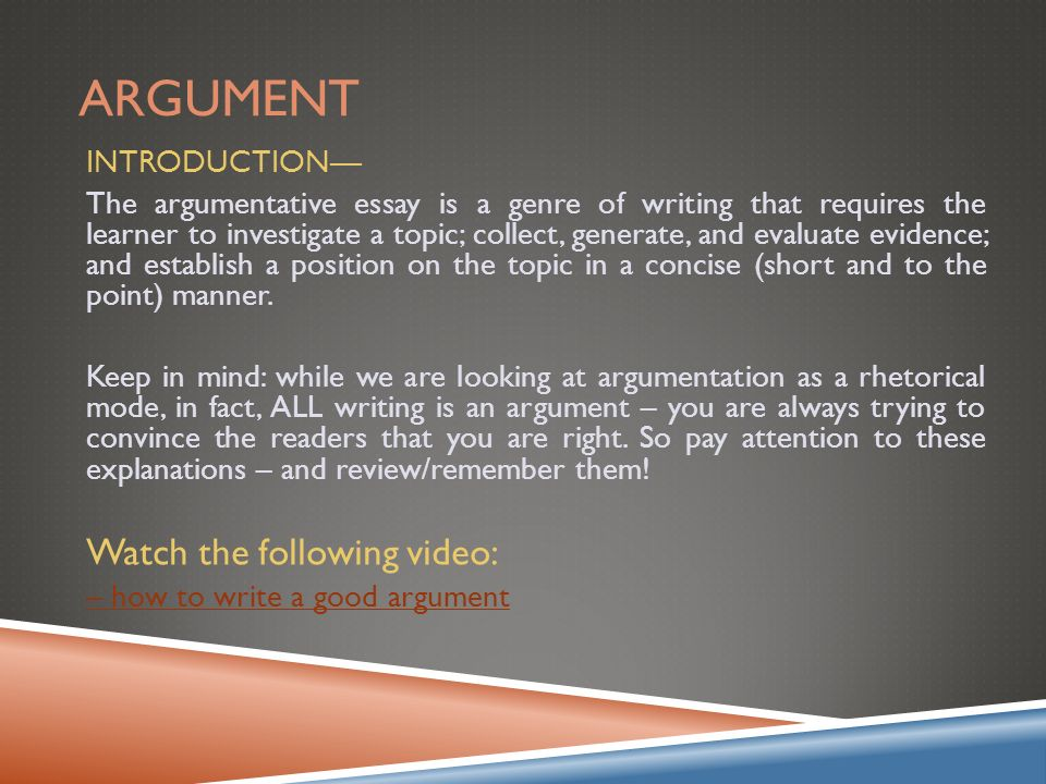 good introductions to argumentative essays