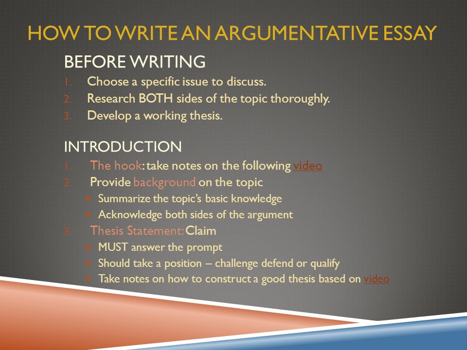 Argumentative Essay Overview  Ppt Video Online Download How To Write An Argumentative Essay