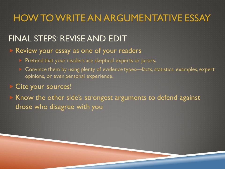 argumentative essay overview