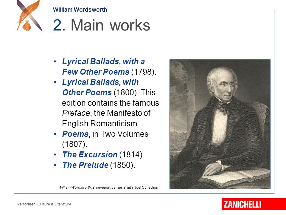 Famous Literary Works Of William Wordsworth
