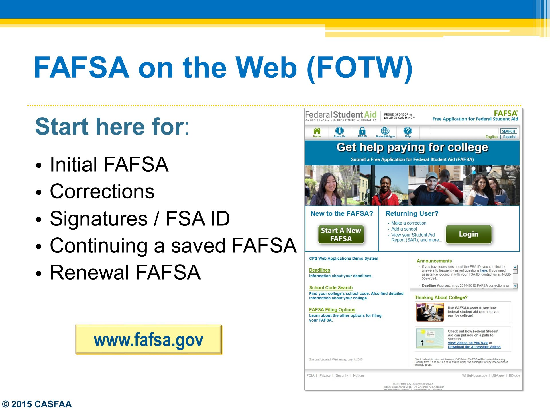 Worksheets Fafsa On The Web Worksheet federal updates the fafsa ppt download 7 fafsa