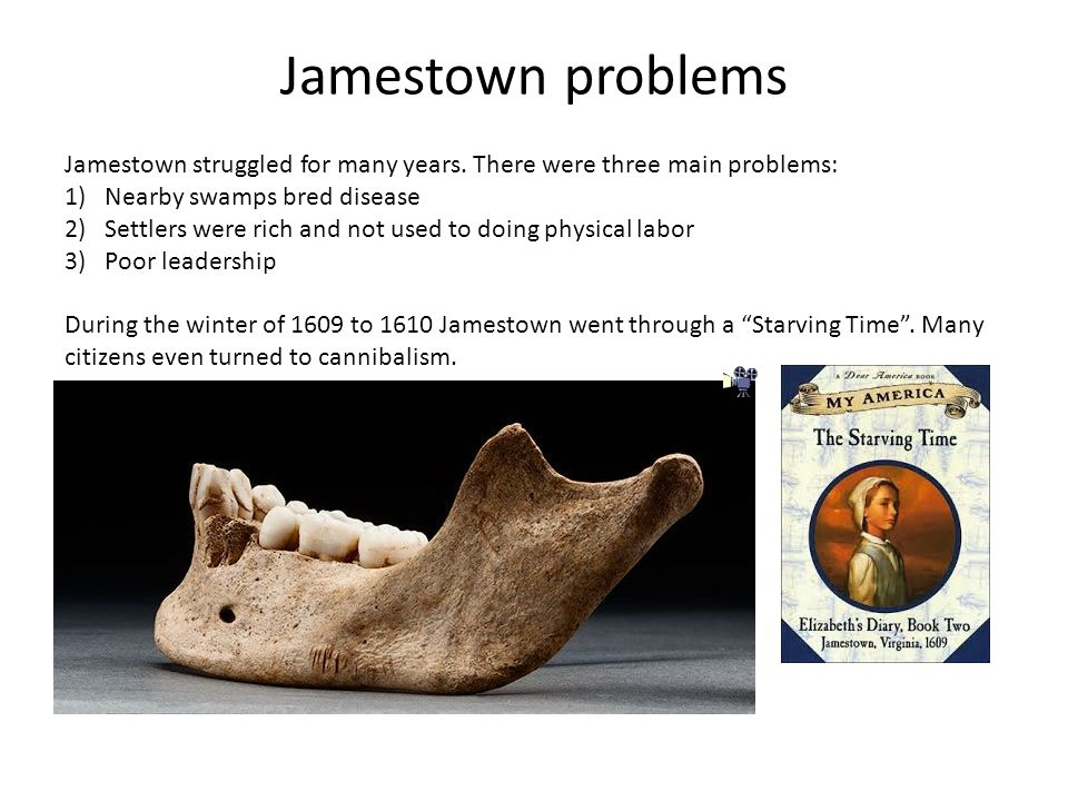 problems in jamestown John smith of jamestown: facts & biography by jessie szalay john smith was an english explorer, soldier and writer best known for his role in establishing the first permanent english colony in the new world at jamestown jamestown was plagued by several problems: drought.