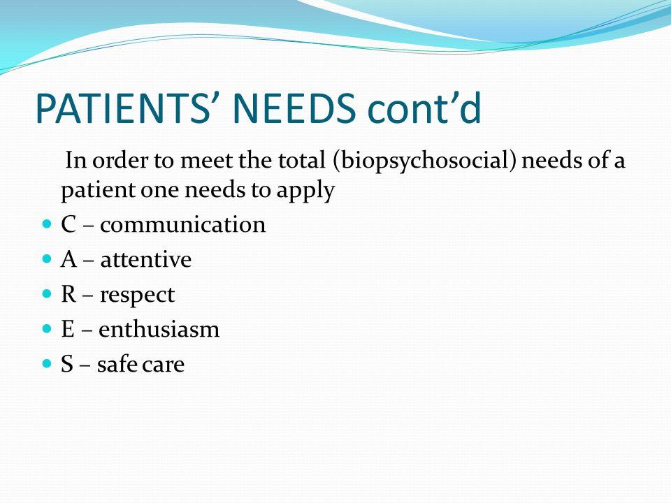 Understanding Patients Needs And Customer Satisfaction