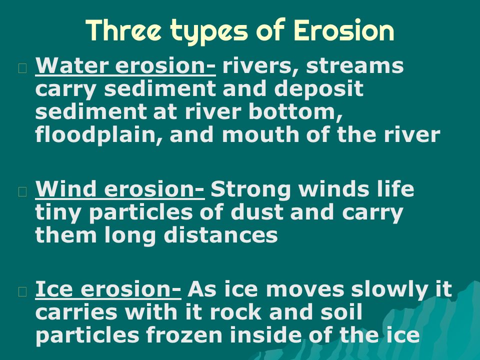 """five types of erosion basic guide Download a soil and land use study guide in pdf for the purposes of the regional envirothon, """"soil is the collection of natural bodies on the earth's surface."""