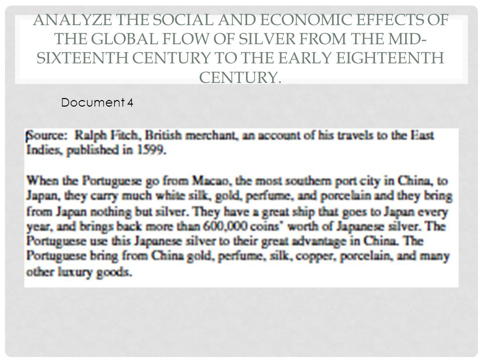 global flow of silver essay 2017-3-2 aeon email newsletters are issued by the not-for  sven beckert's empire of cotton: a global history  translation and the flow of books, silver and opium.