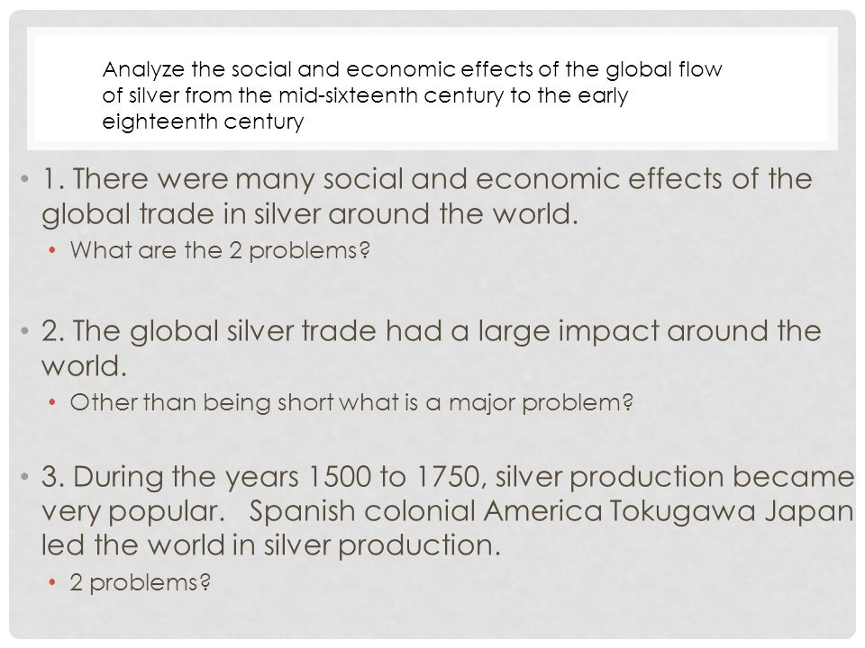 silver trade dbq thesis Open document below is an essay on silver trade dbq from anti essays, your source for research papers, essays, and term paper examples.