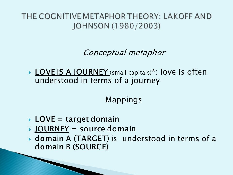 metaphors in cognitive linguistics 1 lexicography and cognitive linguistics: hebrew metaphors from a cognitive perspective by reinier de blois society of biblical literature annual meeting, toronto 2002.