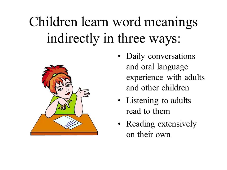 how to learn word meanings quickly