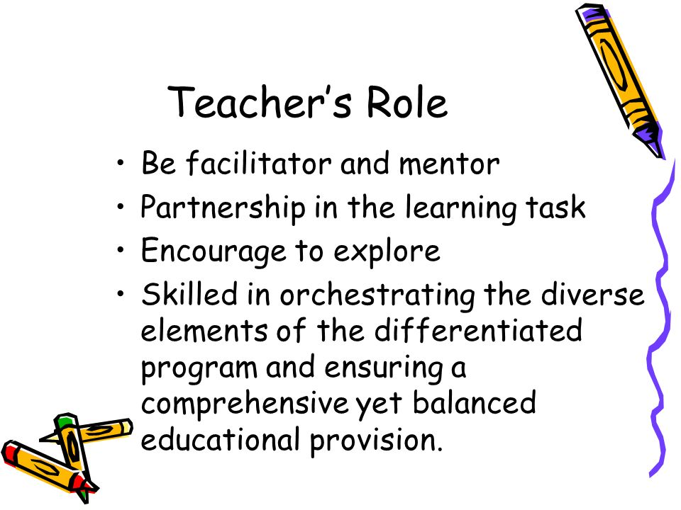 teachers role in facilitating learning Facilitating participation: teacher roles in a multi-user virtual learning  environment language learning & technology, 19(2), 156–176.