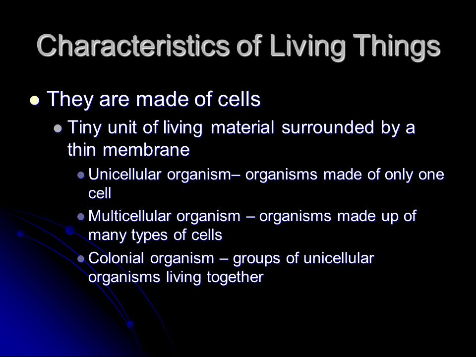 What Are the Ten Characteristics of Living Organisms?