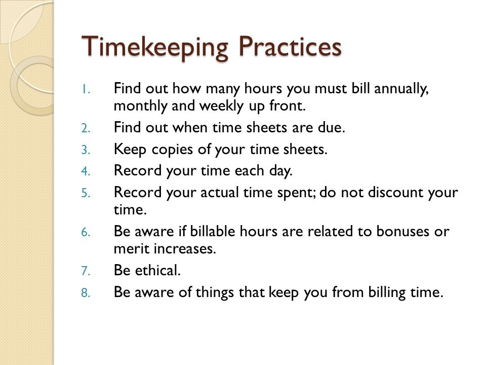 time keeping sheets