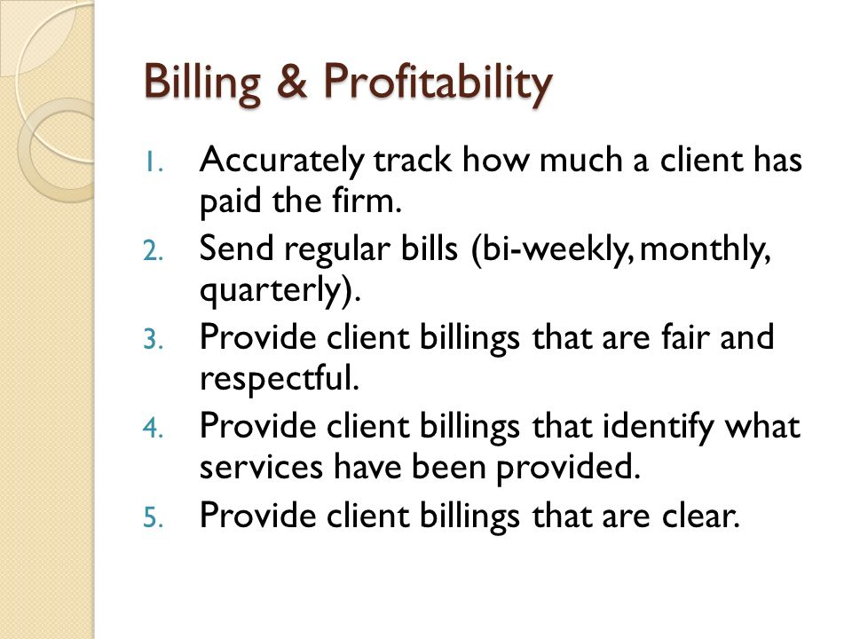 Timekeeping and billing ppt video online download for How to bill a client