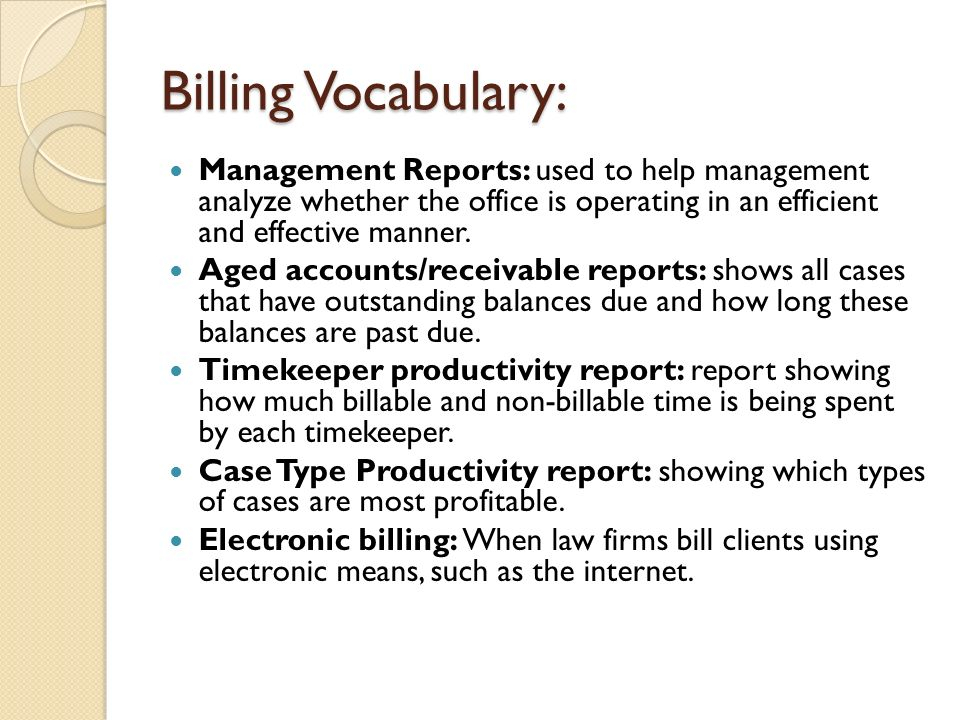 Timekeeping And Billing Ppt Video Online Download