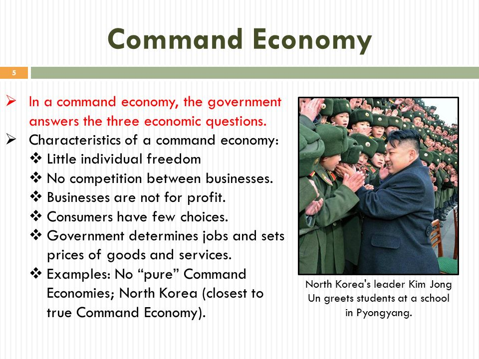 command economy Market system and command economy try to cope with economic scarcity by answering the three basic economic problems the fundamental economic.