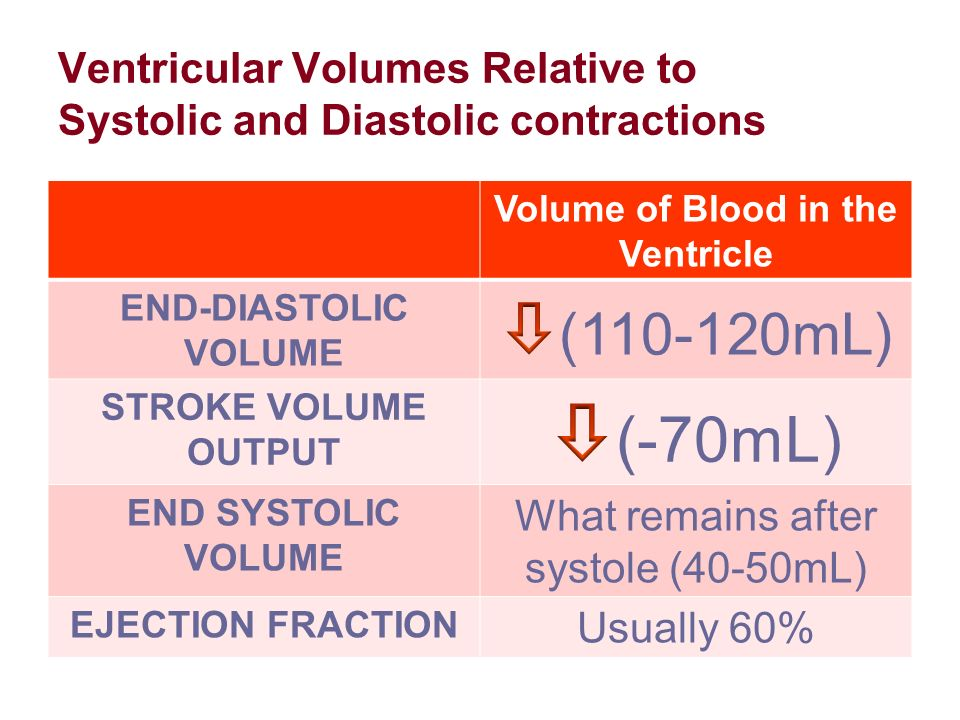 relationship between end diastolic volume and cardiac output