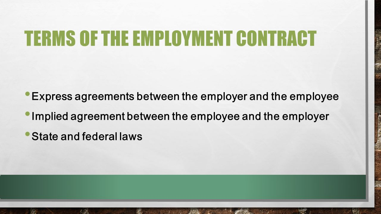 essays employment contracts A contract of employment is an agreement between an employer and employee and is the basis of the employment relationship, it a written contract which both the employee and employer have to.