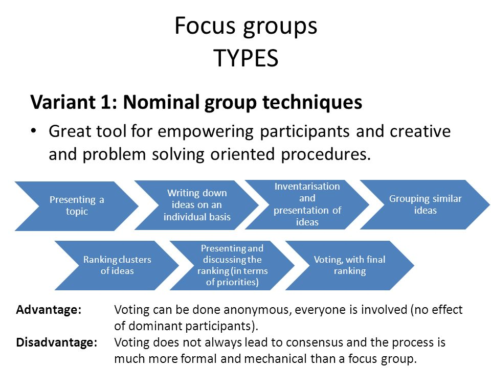advantages of focus group discussion pdf