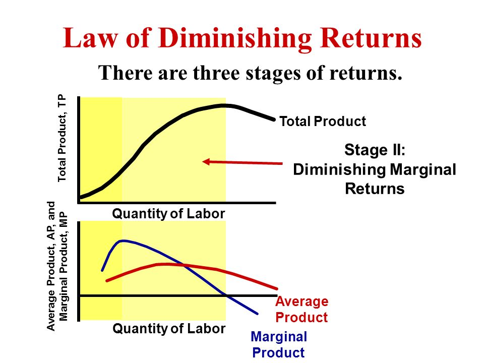 diminishing marginal productivity strong connection between Explain the relationship between marginal product and average product in the background to supply, we notice about the terms total product, marginal product and average product.