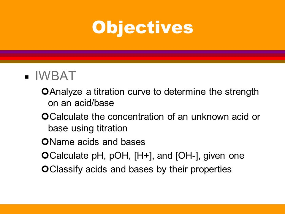 Titration Curves Acid/Base Review - ppt download