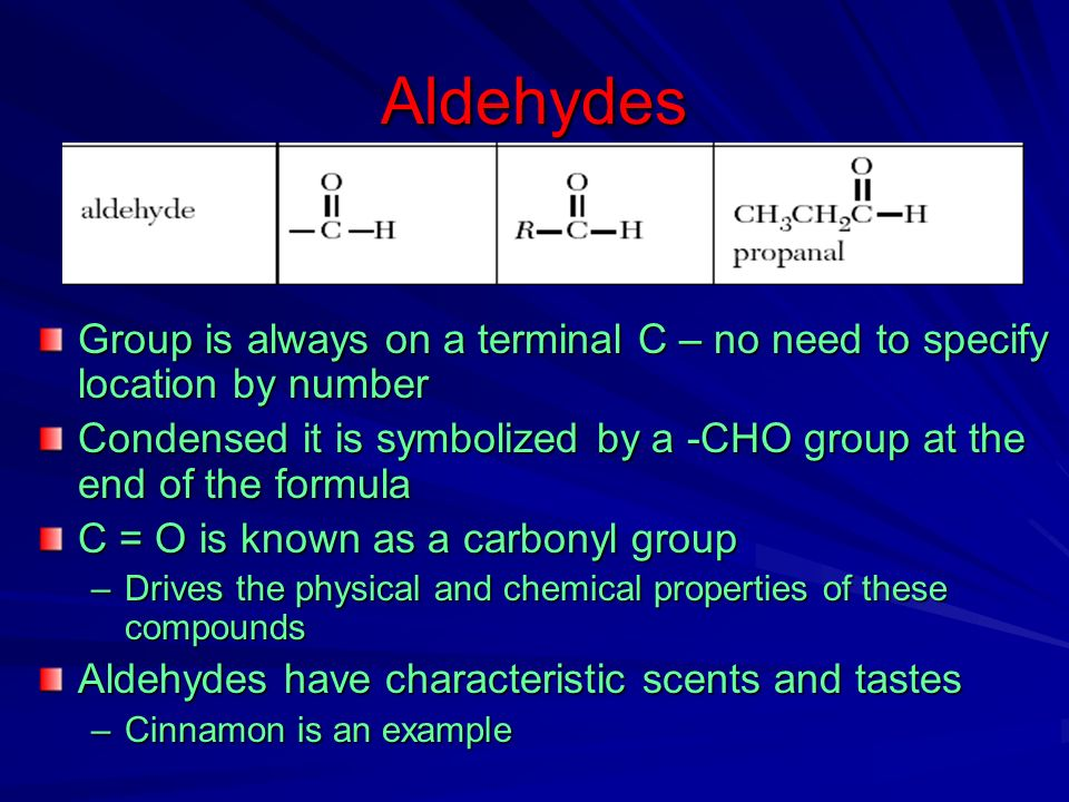 Organic Compound Physical Properties