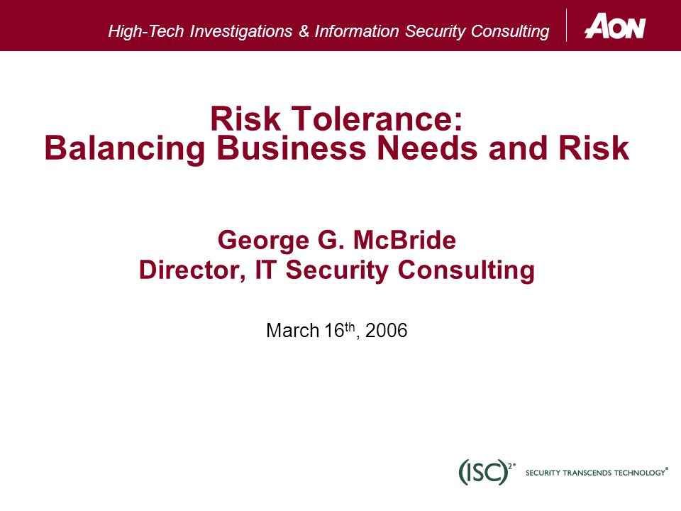 Agenda: What Is Risk? How Can We Measure It? - Ppt Download