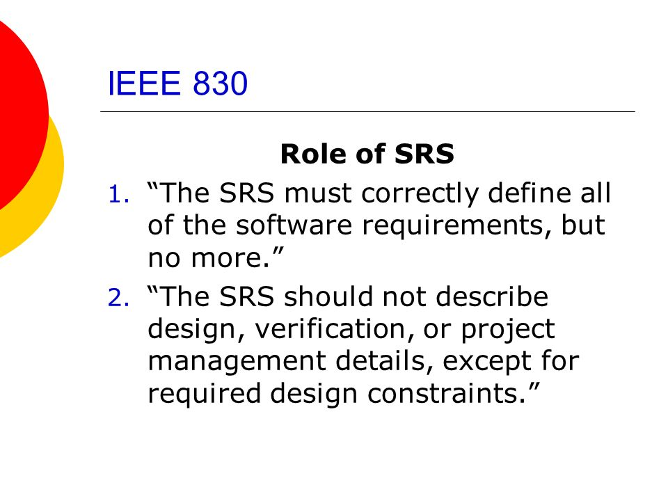 System requirements specification ppt video online download for Ieee definition