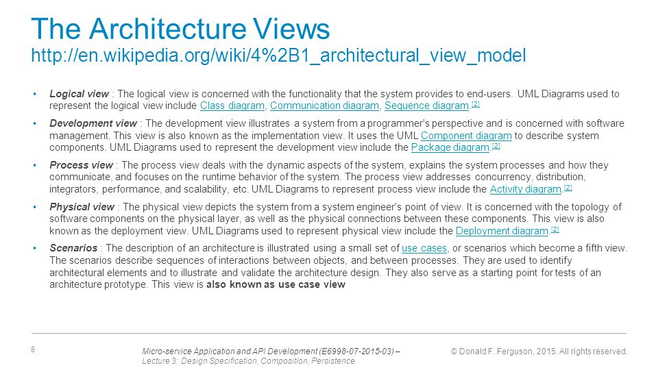 Lecture 3 design specification composition persistence ppt the architecture views httpen wikipedia ccuart Choice Image