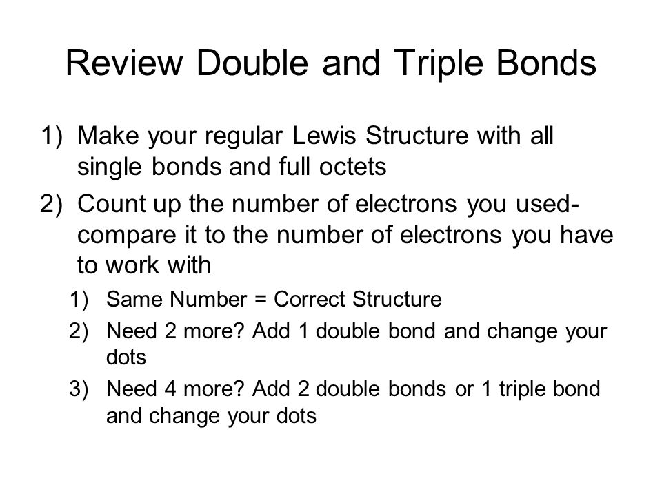 Review Double and Triple Bonds