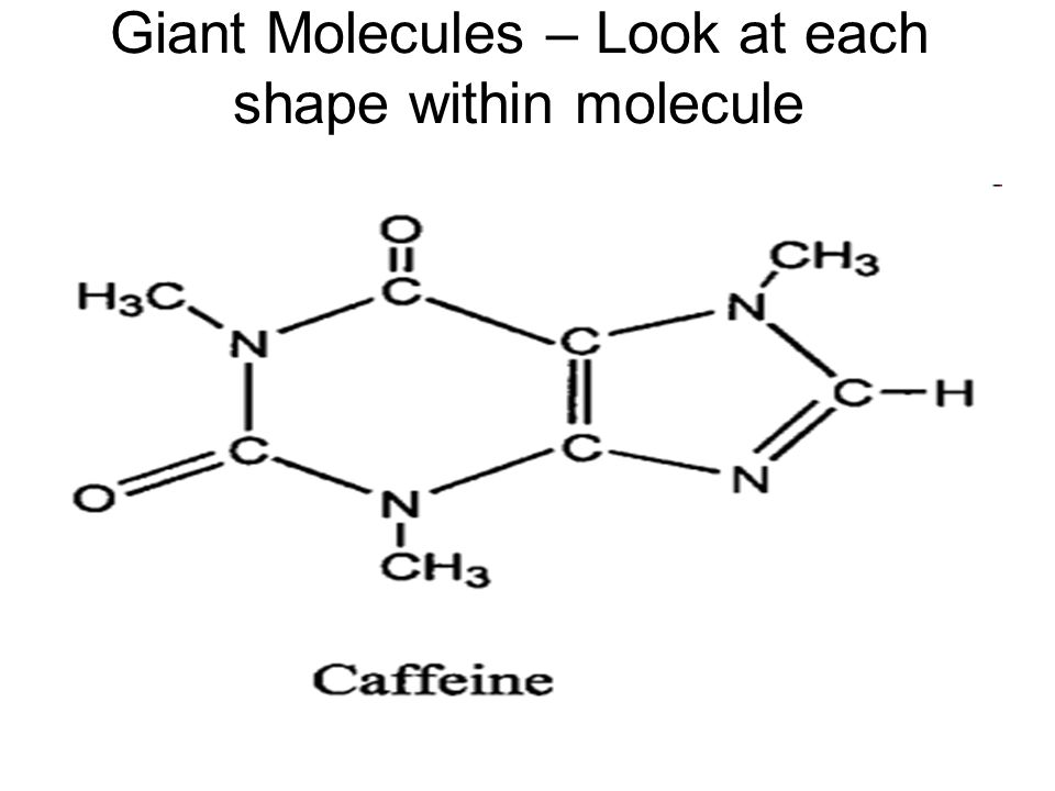 Giant Molecules – Look at each shape within molecule