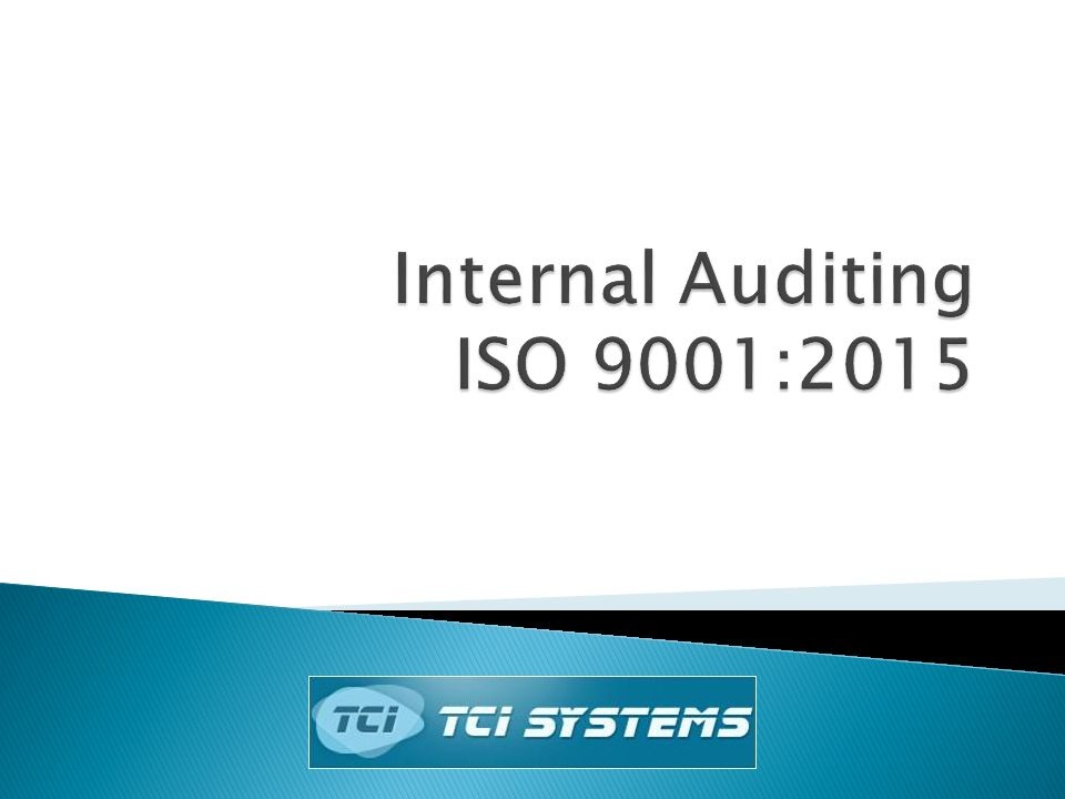 Internal Auditing ISO 9001:2015