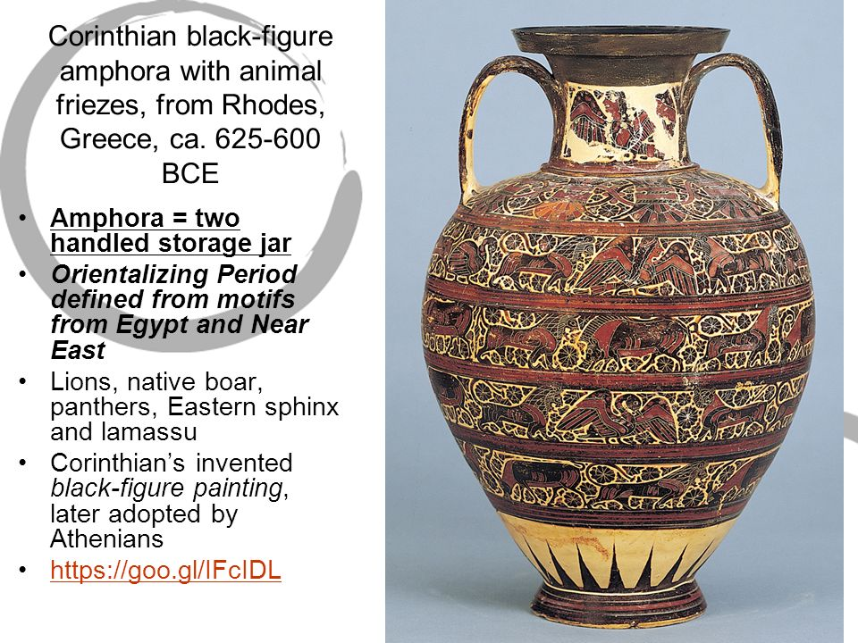 Corinthian Black Figure Amphora With Animal Friezes From Rhodes Greece Ca
