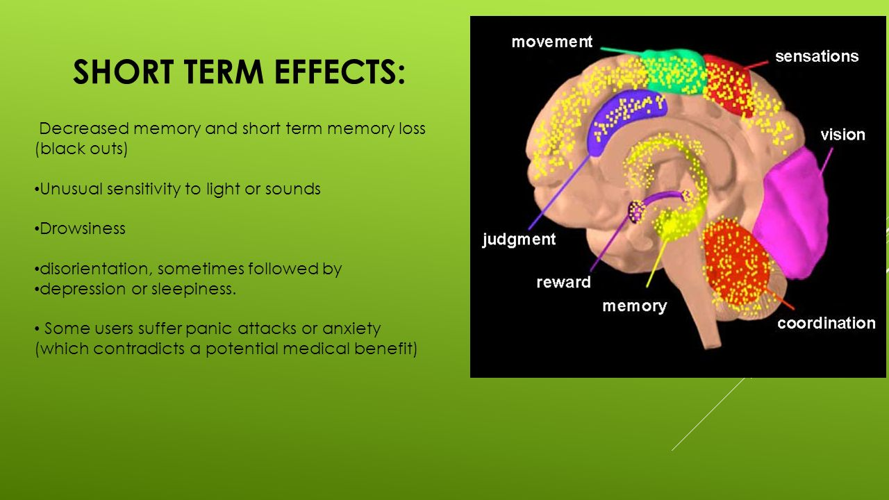 marijuana short and long term effects Part 2 exploring how marijuana alters brain function: short-term effects.