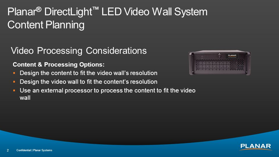 Planar DirectLight LED Video Wall System ppt video online download