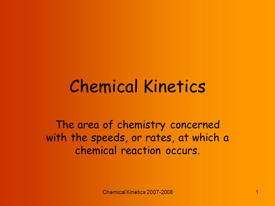 chemical kenetics 17 exp 3 In this video i teach you how to identify first- and second-order reactions by looking at their graphs i also teach you how to perform integrated rate law c.