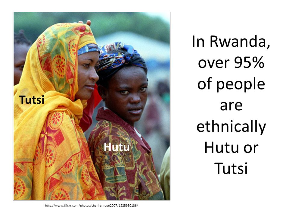 a look at the hutu and tutsi tribes in rwanda In april of 2004, the hutus and the tutsis, two tribes of rwanda, began a civil war that was later looked upon as one of the worst genocides during human existence this paper will discuss how separations during the colonial era of rwanda instigated the genocide.